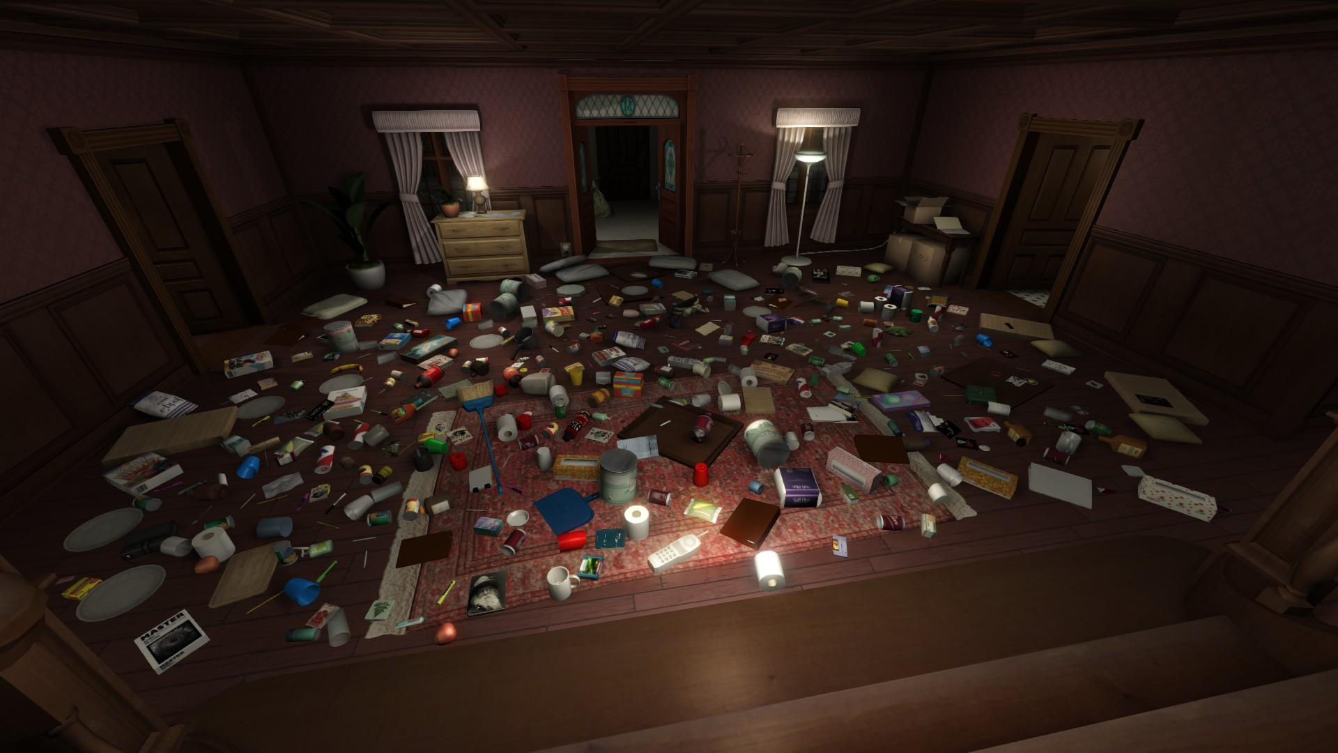 Gone Home Foyer : Launch codes info bulbs and inventories prepping to